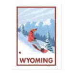 Snowboarder SceneWyoming Postkarten