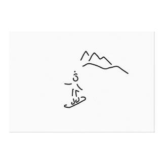 snowboarder skifahren wintersport leinwanddruck