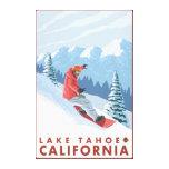 Snowboarder-Szene - Lake Tahoe, Kalifornien Leinwand Druck