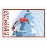Snowboarder-Szene - Lake Tahoe, Kalifornien Postkarte