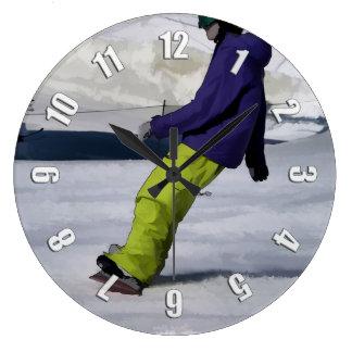 Snowboarder wanduhren - Wanduhr fa r kinderzimmer ...