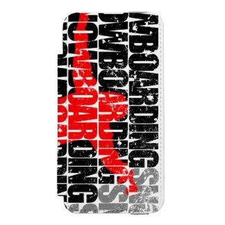 Snowboarding #1 (Schwarzes) Incipio Watson™ iPhone 5 Geldbörsen Hülle