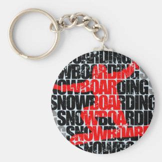Snowboarding #1 (Schwarzes) Schlüsselanhänger