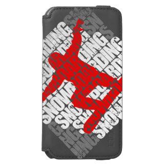 Snowboarding #1 (weiß) incipio watson™ iPhone 6 geldbörsen hülle