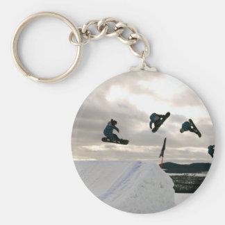 Snowboarding betrügt Keychain Schlüsselanhänger