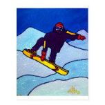 Snowboarding durch Piliero Postkarten