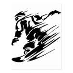 Snowboarding-Extrem-Sport Postkarte