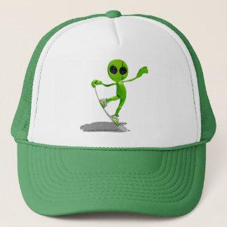Snowboarding-grüner alien-Hut Truckerkappe