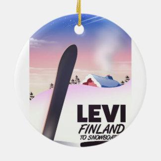 Snowboarding-Reiseplakat Levis Finnland Keramik Ornament