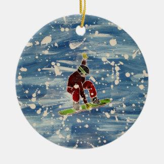 Snowboardingverzierung Keramik Ornament