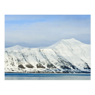 Snowcapped Spitzen Woodfjord Svalbard 2 Postkarte