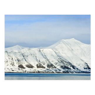 Snowcapped Spitzen Woodfjord Svalbard 2 Postkarten