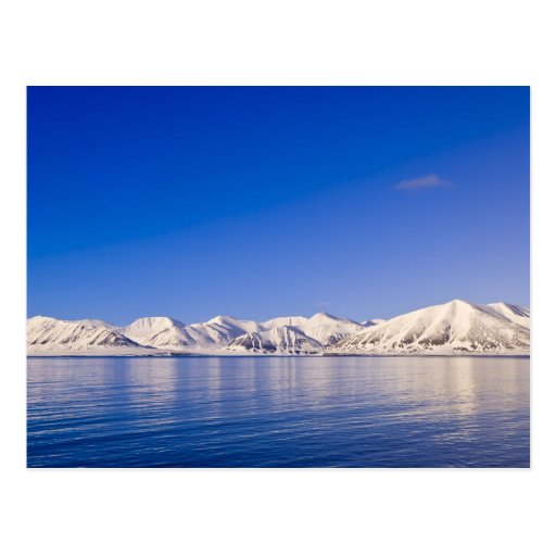 Snowcapped Spitzen Woodfjord Svalbard Postkarten
