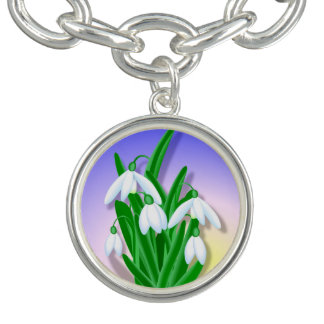 Snowdrop Blume Armband