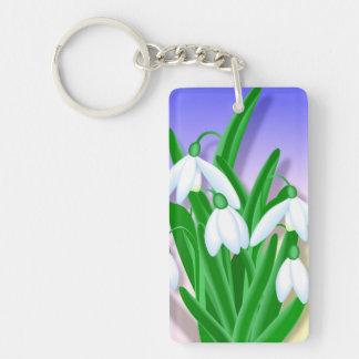 Snowdrop Blume Schlüsselanhänger
