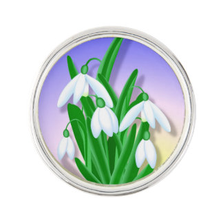 Snowdrop Blumen Anstecknadel