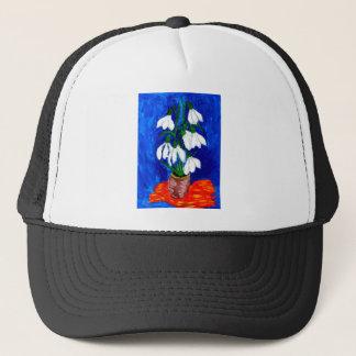 Snowdrop Blumen-Malen Truckerkappe