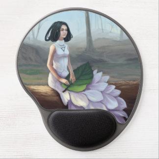 Snowdrop - Fantasie-Mädchen, das Blatt in ihrer Gel Mousepad