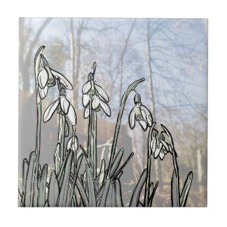 Snowdrops Keramikfliese