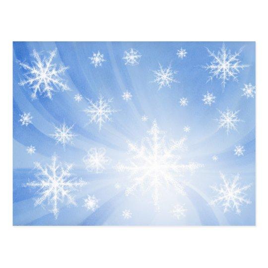 Snowflakes Postcard 01 Postkarte