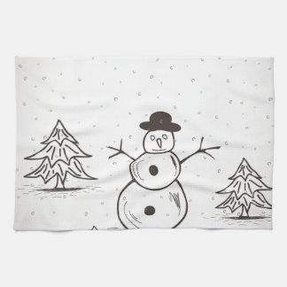 snowman2 küchentuch