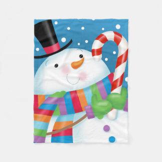 Snowman-Fleece-Decke Fleecedecke