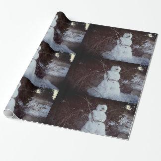 Snowman-Foto-glattes Verpackungs-Papier Geschenkpapier