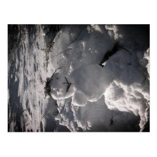 Snowman-Foto-Postkarte Postkarte