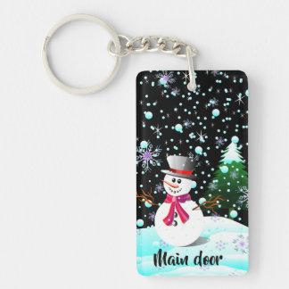 """Snowman """"frohe Weihnachten"""" personalisiert Schlüsselanhänger"""
