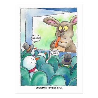 Snowman-Horror-Film-Postkarte Postkarte