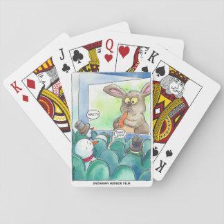 Snowman-Horror-Film-Spielkarten Spielkarten