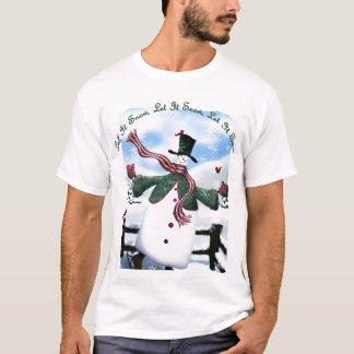 Snowman - lassen Sie es schneien, lassen es T-Shirt