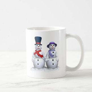 Snowman-Liebe Kaffeetasse