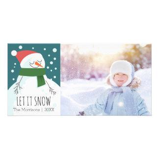 Snowman ließ es schneien wunderliches karte
