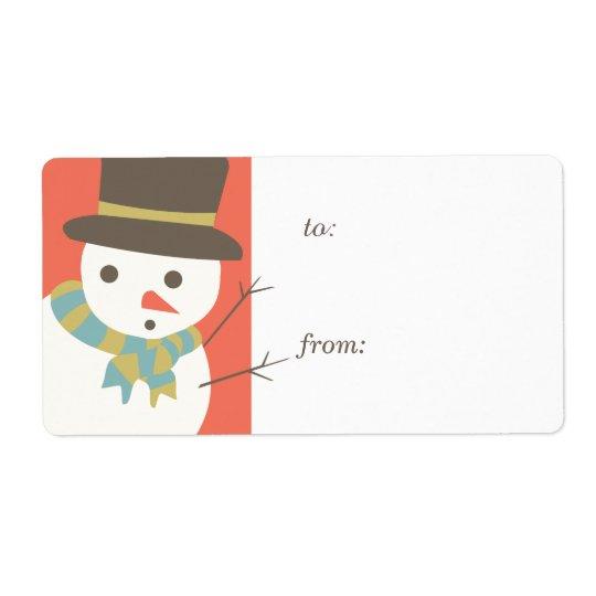 Snowman-Party-Geschenk-Umbau-Aufkleber Versand Aufkleber