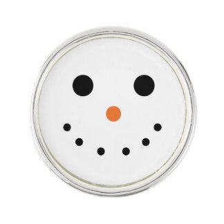 Snowman-Revers-Button Anstecknadel
