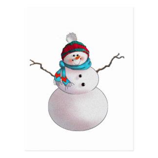 SNOWMAN, SCHAL u. STRUMPF-KAPPE durch SHARON Postkarte