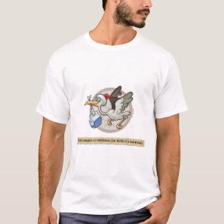 Snowman-Storch-Lieferungs-T - Shirt
