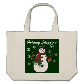 Snowman-u. Schneeflocke-Feiertags-Einkaufen - Tasc Tasche