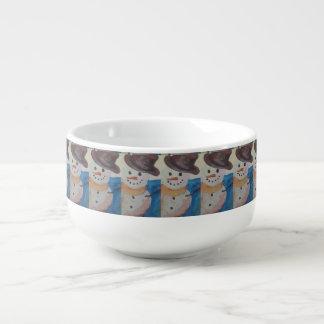 Snowmanmalerei-Suppen-Tasse Große Suppentasse