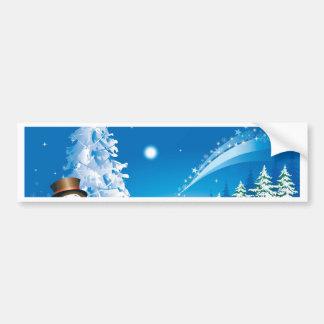 snowmans Weihnachten Autoaufkleber