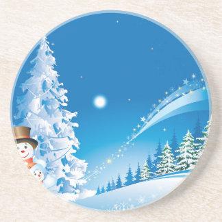 snowmans Weihnachten Untersatz