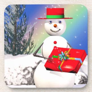 Snowmans Weihnachtsgeschenk Cocktail Untersetzer