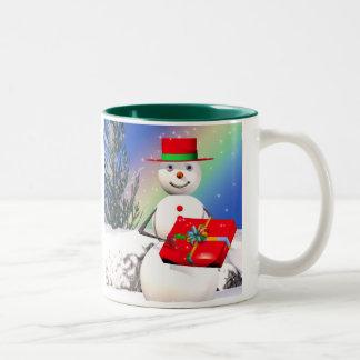 Snowmans Weihnachtsgeschenk Zweifarbige Tasse