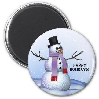 SnowmanweihnachtsKühlschrankmagnet Runder Magnet 5,7 Cm