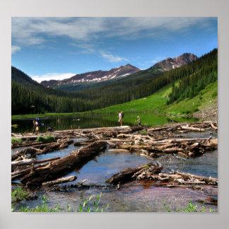 Snowmass Nebenfluss Aspen Colorado Poster