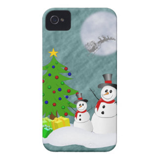 Snowmen-BlackBerry-mutiger Kasten Case-Mate iPhone 4 Hülle