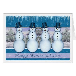 Snowmen - Winter-Sonnenwende/Weihnachten Karte