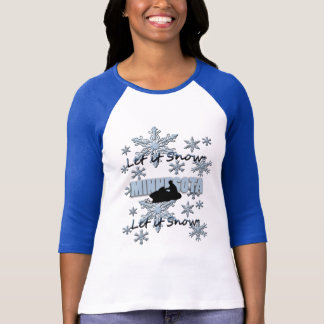 Snowmobile ließ es schneien Minnesotaraglan-T - T-Shirt