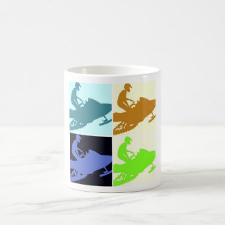 Snowmobiler/Pop-Kunst Tasse